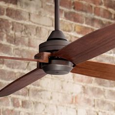 Casa Vieja® Impel ™ Bronze Damp Ceiling Fan - bought this one for the back porch Ceiling Fans Without Lights, Large Ceiling Fans, Ceiling Fan With Remote, Outdoor Ceiling Fans, Outdoor Fans, Outdoor Lighting, Led Ceiling, Ceiling Decor