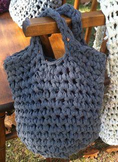 crochet market tote | Home / accessories / bags / rag bags / Cotton Flannel Market tote