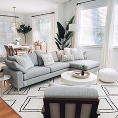 51 brilliant solution small apartment living room decor ideas and remodel 37 Home Living Room, Interior Design Living Room, Living Room Designs, Living Room Furniture, Gray Couch Living Room, Scandinavian Interior Living Room, Furniture Plans, Kids Furniture, Gray Home Decor
