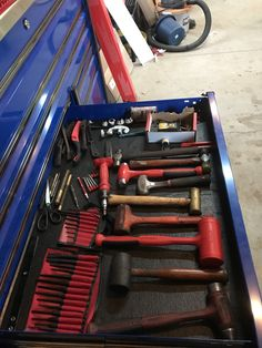 Tool Drawer Organizer, Drawer Organisers, Tool Storage, Organisation Ideas, Organization, Tool Drawers, Garage Ideas, Toolbox, Edc