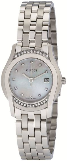 Gucci Watch , Gucci Women's YA055510 G-Class Mother of Pearl & Diamond Watch...$1,795.00