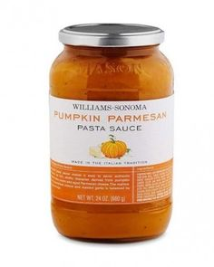 At your next dinner party, serve Williams-Sonoma Pumpkin Parmesan Pasta Sauce ($16.95) over your favorite pasta.
