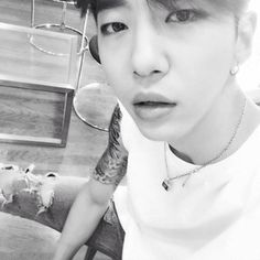 Gukkie and his new tat Kim Himchan, Youngjae, Rapper, Bang Yongguk, Flower Boys, Vixx, K Idols, Ikon, Shinee