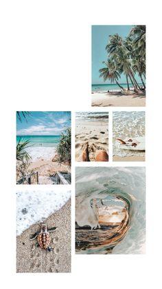 Beach aesthetic phone wallpaper
