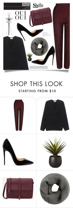 Bohemian Rhapsody by violet-peach on Polyvore featuring Acne Studios, The 2nd Skin Co., Christian Louboutin, CB2 and Oui