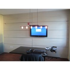 This panel color brings in the light. It makes even smaller home offices look spacious and inviting. It's good for your living room or bedroom as well. Just make sure your decoration goes in line with the final look desired Metal Wall Panel, Wooden Wall Panels, Decorative Wall Panels, 3d Wall Panels, Wood Panel Walls, Wooden Walls, Interior Decorating, Interior Design, Acoustic Panels