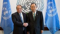 Nawaz Sharif meets UN chief Ban Ki-moon, raises Kashmir issue Pakistan Prime Minister Nawaz Sharif today raised the issue of Jammu and Kashmir in his meeting with UN Secretary General Ban Ki-moon and called for holding of http://www.vishvagujarat.com/nawaz-sharif-meets-un-chief-ban-ki-moon-raises-kashmir-issue/