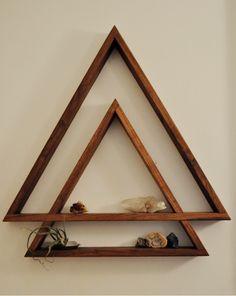 Handmade wooden shelf by Bad Neighbor Studio. Contact for for custom orders