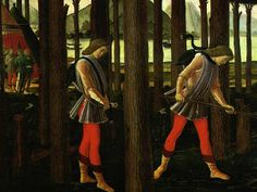 Art History research - Italian Men's C15th Clothing - Hukes and Tunics  http://www.sca.org.au/st_florians/university/library/articles-howtos/camp2-men-italian-clothing.htm