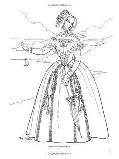 Victorian Fashions Coloring Book (Dover Fashion Coloring Book): Amazon.co.uk: Tom Tierney: 9780486299174: Books