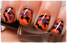 A Girl and Her Polish: Digit-al Dozen Does: Halloween - Camo Country Girl Nails, Camouflage Nails, Girls Nails, Perfect Nails, Manicure And Pedicure, Toe Nails, Nails Inspiration, Sweet 16, Hair And Nails