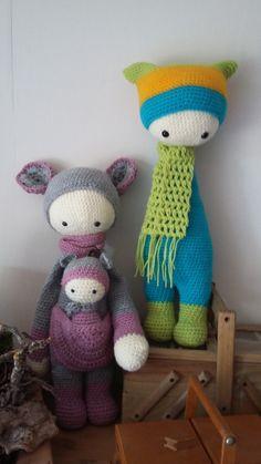 Kira the kangaroo and a little friend made by Jutta / crochet pattern by lalylala