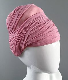 752f728a135 Rare 1960s Vintage Yves Saint Laurent Couture Pink Silk Vintage Turban Hat  YSL