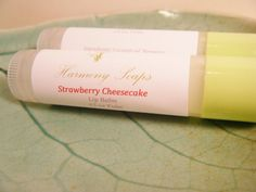 Strawberry Cheesecake Natural Lip Balm Tube by harmony5 on Etsy, $3.00