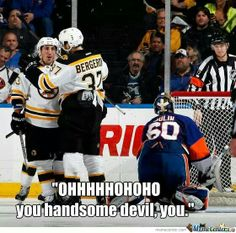 "CAN'T BREATH :""))))) Brad Marchand and Patrice Bergeron will never be separated <3 #Bruins #humor"