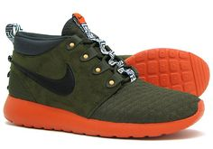 ffe0e497f692 nike roshe run sneakerboot dark loden orange 2 Nike Roshe Run SneakerBoot  Dark Loden Orange Nike