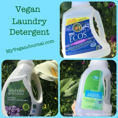 10 Vegan Laundry Detergents ~ Because No One Should Die for a Load of Laundry. It\'s SO easy to be vegan! #MyVeganJournal