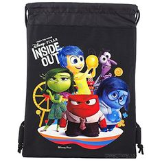 Disney Inside Out Authentic Licensed Drawstring School Bag Backpack Black *** You can get more details by clicking on the image. Gym Backpack, Black Backpack, Drawstring Backpack, School Tote, School Bags, Inside Out Characters, Pixar Characters, Disney Inside Out, Baby Disney