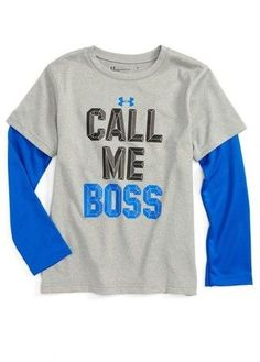 Under Armour Toddler Boy's Call Me Boss - Slider Layered T-Shirt