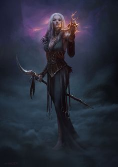 Isalen; goddess of dreams and nightmares. She is also known as the 'night walker'