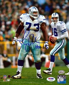 "Larry Allen Autographed 8x10 Photo Dallas Cowboys """"HOF 13"""" PSA/DNA Stock #74250"