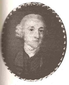 Rev. George Austen as a young man. He was Jane Austen's father. Image scanned by Vic (Jane Austen's World).