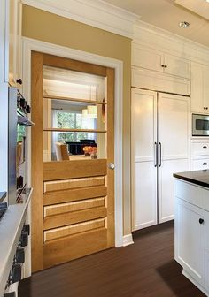 Artisan in Maple with Fruitwood stain and Clear glass Masonite Interior Doors, Door Ideas, Wood Doors, Door Design, Windows And Doors, Glass Door, Bathroom Medicine Cabinet, Clear Glass, Pantry