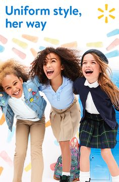 Polos, jumpers, jeggings, cardigans --get everything you need for her back to school wardrobe. Find uniform looks for less at walmart.com