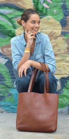 Paulina Leather Tote on TROVEA.COM