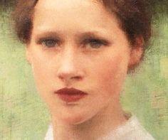 "george clausen (1852-1944) (detail) ""A village maiden"" I886 (oil on canvas 25.5 x 20.4 cm)"