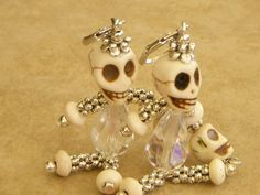 Skull Earrings by medussas on Etsy, $15.00