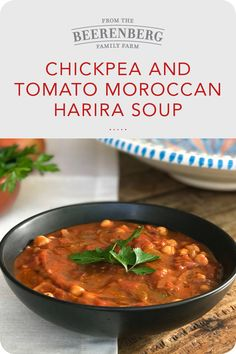 Slow cooker chickpea and tomato Moroccan Harira soup.   #healthysoup #souprecipes #slowcookerrecipes
