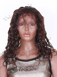 Spanish Wave Texture Indian Remy Hair Glueless Full Lace Wig