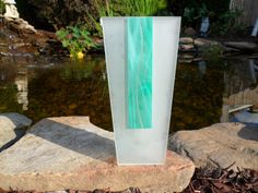 Morin Choinière Montreal  Frosted Glass Vase  by ChicAvantGarde