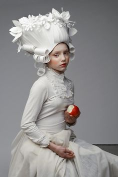 Artist Creates Elaborate Baroque Wigs Entirely Out of Paper