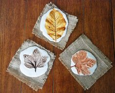 Autumnal motives with leaf impression - Painting & Drawing Fall Crafts For Toddlers, Toddler Crafts, Diy Crafts Videos, Arts And Crafts, Colors Of Fire, Painted Leaves, Leaf Art, Some Ideas, Creative Decor