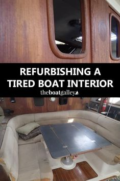Barefoot Gal had good bones but a very tired interior. It was finally time for a major renovation. Learn what all the problems were and our priorities in the update. Sailboat Living, Living On A Boat, Boot Dekor, Cabin Cruiser Boat, Sailboat Restoration, Liveaboard Sailboat, Liveaboard Boats, Sailboat Interior, Boat Projects