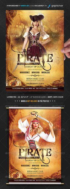 Pirate Halloween Poster/Flyer