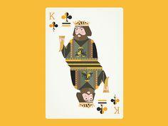 Robert Baratheon as the King of Clubs