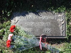 """Aneta Corsaut - Actress, played Helen Crump (Andy's Girlfriend) in the TV series """"The Andy Griffith Show"""" - Valhalla Memorial Park, Hollywood, CA After The Show Ends, Grave Monuments, Barney Fife, Don Knotts, The Andy Griffith Show, Cemetery Headstones, Famous Graves, Classic Horror Movies, Star Wars"""