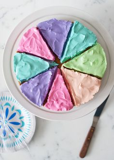 color wheel cheesecake, too pretty to eat!