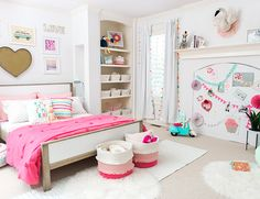 My Girl's Pink Pom Pom Bedroom - Inspired By This