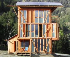 Casa Solare is a three story, self-sufficient home set high in the Italian Alps.