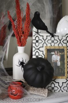Halloween Decor @ The Blissful Bee