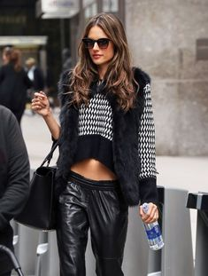 Alessandra Ambrosio yes. This is fashion. I don't care what anyone else says. Cool girl ease and sex appeal that has nothing to do with the cropped top.