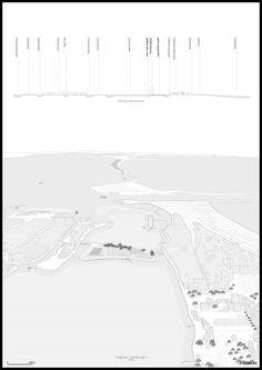 Stefano Serventi - Redevelopment of the Buon Castello island - Sottomarina (Venezia) Architecture Graphics, Architecture Student, Architecture Drawings, Landscape Architecture, Architecture Plan, Urban Analysis, Site Analysis, Spatial Analysis, Landscape Diagram