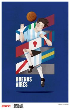 ESPN Capitales del Fútbol by Jorge Lawerta, via Behance
