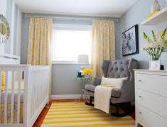 Afbeeldingsresultaat voor babykamer geel grijs
