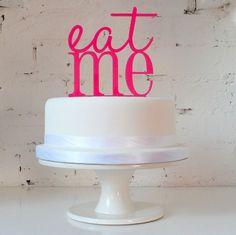Wedding Birthday Celebration Cake Topper 'Eat Me' Alice in Wonderland, Love   eBay