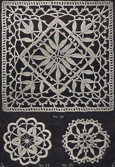 Heirloom Crochet - Vintage Patterns and Instructions - Priscilla Cluny Crochet